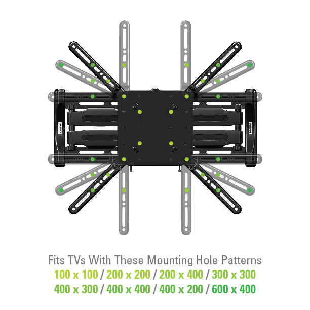 Sanus Vuepoint Flf118 Full Motion Wall Mounts Mounts Products