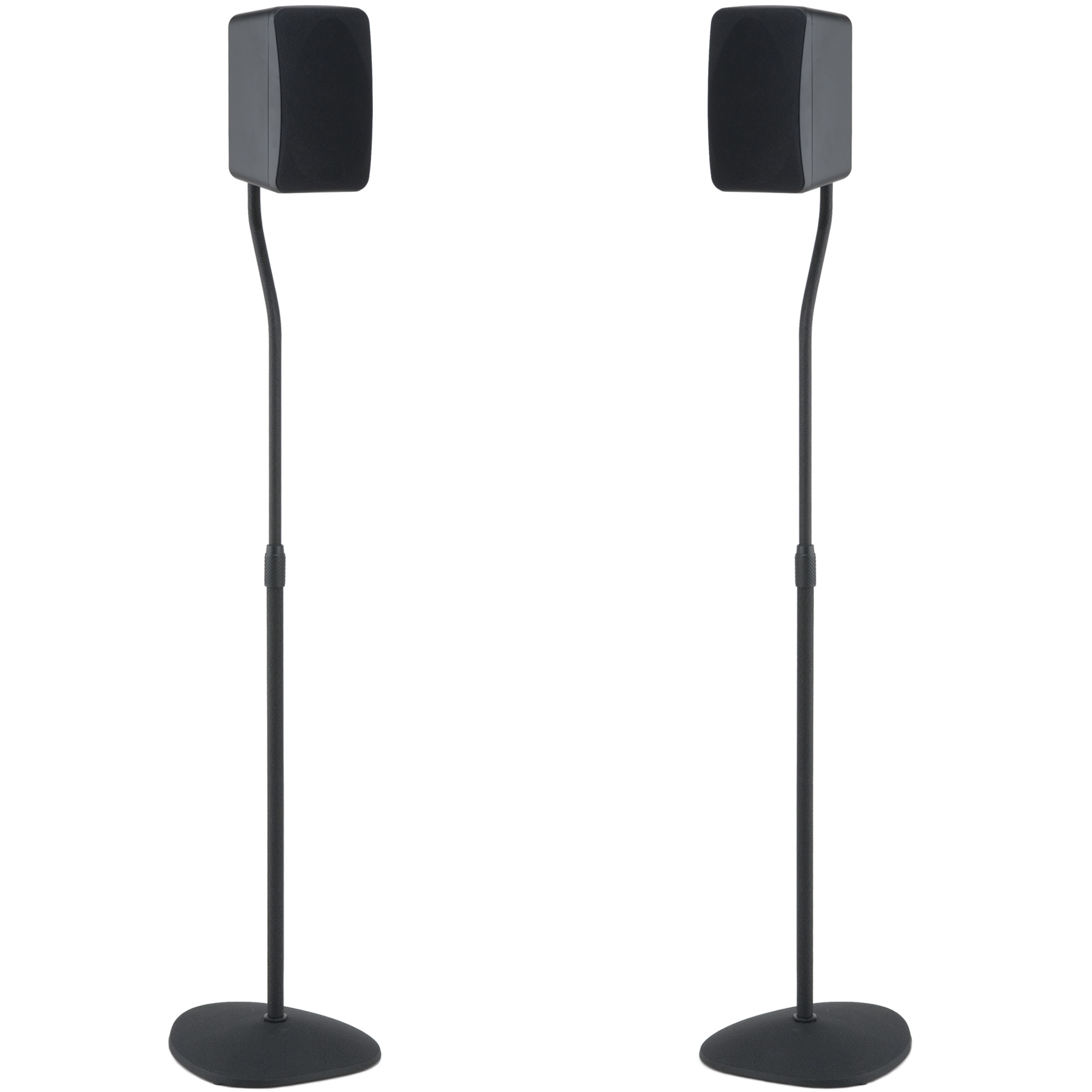 SANUS Adjustable Height Speaker Stands With Universal Design For Satellite Bookshelf Speakers